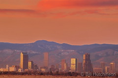 December 12, 2018 - Sunrise colors the Mile High City. (Bill Hutchinson)