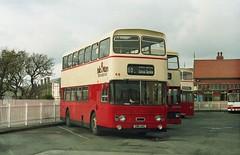 Isle of man variety. (Renown) Tags: bus buses leyland atlantean an68 olympian alexander ncme northerncounties isleofman nationaltransport iom porterin garage yard
