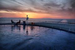 Aegean sea (denismartin) Tags: denismartin greekisland aegeansea mediterraneansea greece sea kalymnos pothia sun sunrise cloud sky boat morning people vanishingpoint