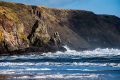 Waves breaking (claire.poole4) Tags: photography nikon scotland autumn beach waves rocks cliffs