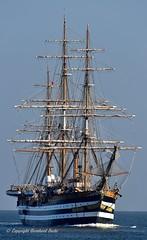 AMERIGO VESPUCCI (Bernhard Fuchs) Tags: boat cuxhaven elbe nikon sail sailing schiffe segelschiff segelschiffe ship ships vessel water passenger passengership boot
