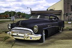Buick Super 53 Sedan gechoppt (olds.wolfram) Tags: car auto oldtimer rusty buick sedan topchop alt rostig 1953
