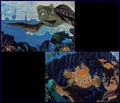 8 - Saint-Vallier (Bourgogne) - Sur le château  d'eau, les amis de Nemo... (melina1965) Tags: 2018 novembre panasonic lumix dmctz57 bourgogne burgondy saôneetloire saintvallier macro macros mosaïque mosaïques mosaic mosaics collages collage streetart poisson poissons fish fishes
