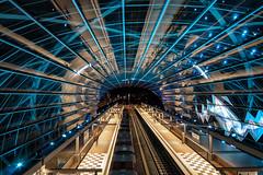 U4 Elbbrücken (hph46) Tags: elbbrücken hamburg lichtspiele u4 deutschland germany underground station nachtaufnahme lichter sony alpha6500 samyang12mmf120