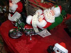 Feliz Navidad (twm1340) Tags: 2018 christmas shop store feliz navidad sedona az arizona tlaquepaque shopping center santa claus motorcycle rider nightrider