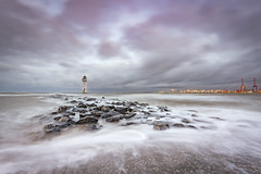 New Brighton lighthouse (Lukasz Lukomski) Tags: longexposure hightide mersey merseyside tide wirral newbrighton landscape lighthouse liverpool england greatbritain lukaszlukomski uk unitedkingdom nikond7200 sigma1020