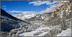 Les Ecrins sous la neige (watbled05) Tags: hiver arbres ciel extérieur givre glacier hautesalpes massifdesecrins montagne neige paysage rochers nuages village