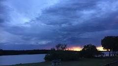 Summer storm clouds, Nudgee Beach, Brisbane, Australia (David McKelvey) Tags: weather nudgeebeach sunset clouds storm brisbane queensland australia 2018 iphone6plus summer