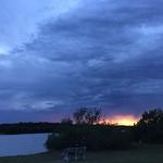 Summer storm clouds, Nudgee Beach, Brisbane, Australia thumbnail