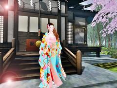 *:..Silvery K..:*SAKURA lyric (❀✿ Kate ✿❀ !cream spaghetti hair!) Tags: fair event fashion kimono