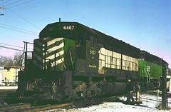 BN SD45 6467 (chuckzeiler50) Tags: bn sd45 6467 railroad emd locomotive brookfield train giballbach chz