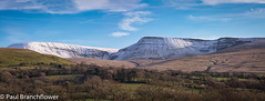 Black Mountain (pjbranchflower) Tags: snow winter mountain black brecon beacons national park luminar panorama