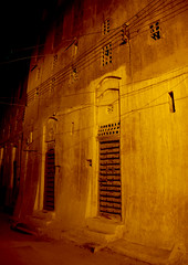 The Old Town Of Shibam At Night, Yemen (Eric Lafforgue) Tags: arabia arabiafelix arabianpeninsula arabic architectural architecture brick builtstructure colourpicture facade fortifiedwall hadhramaut hadhramawt hadhramout hadramaout hadramaut hadramawt historical history house housing manhattanofthedesert middleeastern mudbrick night nightshot nopeople outdoors placeofinterest shibam skyscraper themanhattanofthedesert town traveldestinations unescoworldheritagesite vertical yemen mg6008