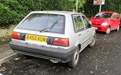 1987 Nissan Sunny LX (occama) Tags: e452kuw 1987 nissan sunny lx old car cornwall uk japanese silver