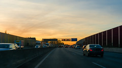 A40 (frankdorgathen) Tags: alpha6000 sony sony35mm bochum ruhrpott ruhrgebiet himmel sky sonnenuntergang sunset auto car highway autobahn a40