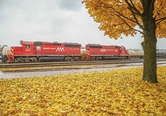 Resting Between Assignments (First Initial = Steve) Tags: vermont autumn fall railroad trains sonya7ii a7ii canon canonef 24105f4 burlingtonvt