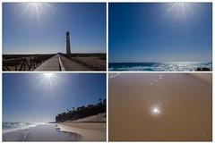 Sonnensterne - please zoom it! (mohnblume2013) Tags: leuchtturm fuerteventura kanaren strand meer atlantik insel sonne sonnenstern licht wetter wasser jandia morrojable
