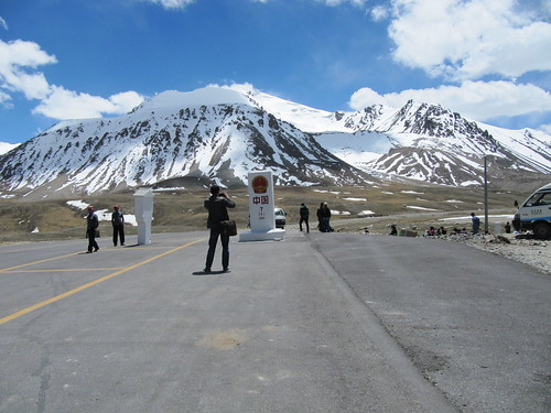 The Pakistan-China border zero-point in the Khunjerab Pass.