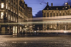 Tram Lights (Oash_Dany) Tags: amsterdam holland longexposure nightshot bruxelles belgium
