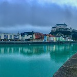 Kufstein panorama with river Inn and fortress, Tyrol, Austria thumbnail