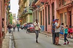 Havana, Cuba (szeke) Tags: cuba havana people standing walking street building puppy car balcony children