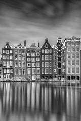 Architecture Angle Variations (frank_w_aus_l) Tags: amsterdam city reflection cityscape netherlands holland nikon d810 nikkor longexposure building sky clouds stream water monochrome noiretblanc netb bw sw schwarzweis noordholland niederlande nl angle