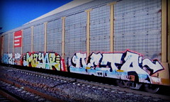 (timetomakethepasta) Tags: weez weezy wyse mayor deja d30 freight train graffiti art cp autorack canadian pacific railway