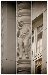 Hotline bling triptychon (michael_hamburg69) Tags: hamburg germany deutschland bauschmuck kontorhaus mann hund dog man miramarhaus miramar klinkerexpressionismus 20s 20er jahre eckeschopenstehlkattrepel altstadt architekt maxbach schopenstehl15 bildhauer sculptor richardkuöhl dackel