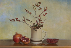 Bodegón de invierno (Rosa Tomé) Tags: bodegón fruta texturas granada