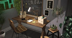 ..::THOR::.. Minimal Workspace - A+ Event (andraus thor) Tags: office workspace furniture pose decor home thor secondlife sl metaverse 3d cozy work house vintage
