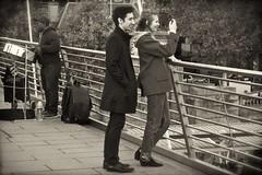 Selfie (alicejack2002) Tags: selfie couple millennium bridge london leica bw monochrome