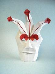 Máscara de Carnaval - Roger García (Rui.Roda) Tags: origami papiroflexia papierfalten masque carnival mask máscara de carnaval roger garcía