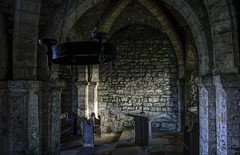 St Aldhelms Chapel (Antony Ward UK) Tags: beam shine stained glass arch cross bench pew stone brick old years 800 century 13th religion light cliff church dorset st aldhelms chapel