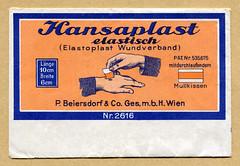 Tütchen für Hansaplast Pflaster (altpapiersammler) Tags: alt old vintage werbung werbegrafik werbezeichnung advertising ad verpackung tüte bag package packung gesundheit health