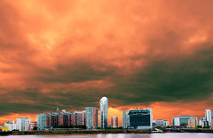 """100724 Canary Wharf 2 (hoffman) Tags: view canarywharf docklands riverthames falsecolour cityscape davidhoffman davidhoffmanphotolibrary socialissues reportage stockphotos""""stock photostock photography"""" stockphotographs""""documentarywwwhoffmanphotoscom copyright"""