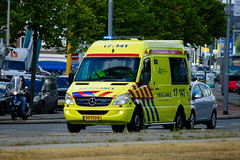 Dutch AMbulance underway to an emergency call in Rotterdam (1996martijn1996) Tags: new flower volkswagen truckshow emergency eindhoven vehicle departement department mercedes metro center medical chevrolet trein fire firetruck chief rotterdam amsterdam torpedo nature police officer sprinter ambulance maasvlakte transporter transport truck trucks train tram car york air bird port airport light audi bus building scania schiphol london volvo daf