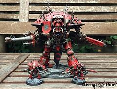 Chibi Knight comparison (1) (KrautScientist) Tags: chaos warhammer40k 40k worldeaters imperialknight renegade chaosknight gilgamesh baronharrowthorne harrowthorne chibiknight adeptustitanicus questoris warriorking