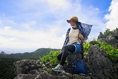 Awadake summit (neil.dalphin) Tags: yellow hiking awadake okinawa forest mountain view views japan green blue sky sunshine sunny