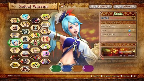 Hyrule Warriors Roster Warrior Selection