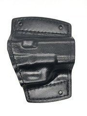 Glock 19 Car Holster (americanleathersmith) Tags: carholster leatherholster gunholster concealcarry holster mounted leather