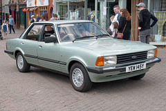 1982 Ford Cortina 2.0 Ghia (YEW 145Y) - Swadlincote Festival of Transport 2018 (anorakin) Tags: 1982 ford cortina 20 ghia yew145y swadlincotefestivaloftransport 2018