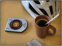 Number 42 (Godfrey DiGiorgi) Tags: 42 abstract cafe coffee detail helmet numberlocator stilllife urban sanjose california unitedstates us