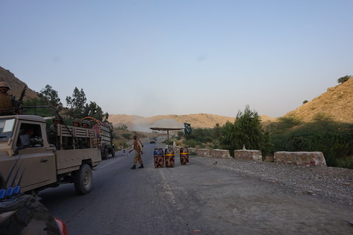 Soldiers at a checkpoint, North Waziristan, Pakistan's tribal areas.