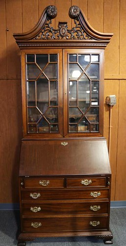 Indonesian Mahogany Chippendale style bookcase ($392)