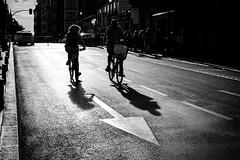 (fernando_gm) Tags: madrid street shadow monochrome monocromo blackandwhite bw blancoynegro bike calle callejera city ciudad contrast contraste spain españa fuji fujifilm f14 35mm europa backlight gente people airelibre bicicleta bycicle