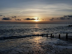 December sea (sunset1uk) Tags: southwick westsussex england groyne water sea wave sunset clouds
