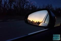 Week 51: Reflection (bmurphy502) Tags: reflection mirror car sunset skyline