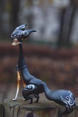 Winter shots (Emese's Dolls) Tags: dollchateau vanessa fantasy bjd doll pet fox dog jackal