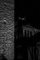 Fori Imperiali (frnrnd) Tags: architecture architettura archaeology archeologia light shadow luce ombre roma romano rome impero empire italia italy culture heritage altaredellapatria blackandwhite biancoenero bn bnw sculpture scultura