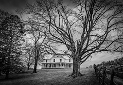 The Old Farm House (Bob G. Bell) Tags: abandoned farm farmhouse monroe lindside peterstown wv bobbell nikon d750 sky clouds nature fence plankfence trees
